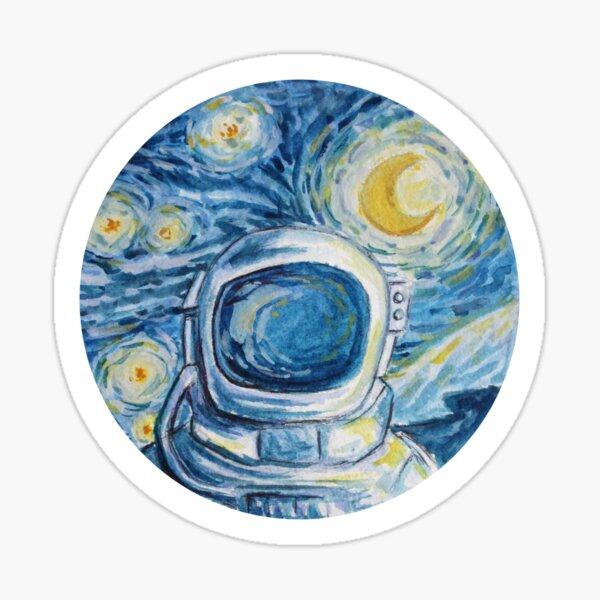 van gogh space astronaut painting Sticker