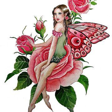 Peach rose fairy  by gabo2828