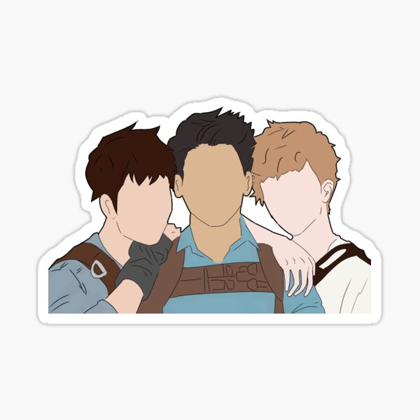 Maze Runner trio Sticker