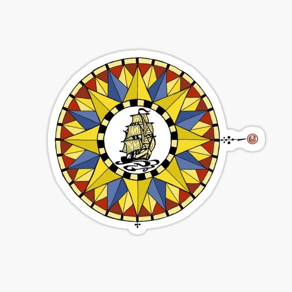 Tallship Compass Rose Sticker