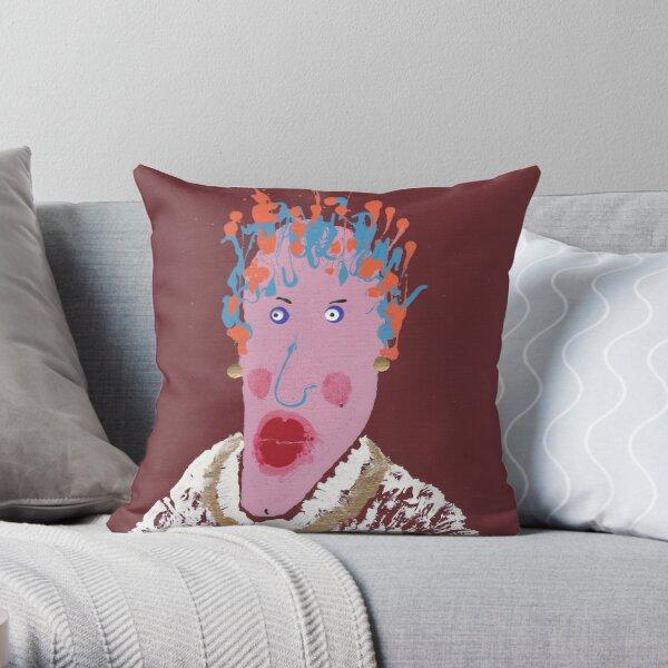 Gertrude - Martin Boisvert - Face à flaques Coussin