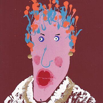 Gertrude - Martin Boisvert - Face à flaques by martinb1962