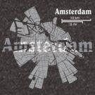 Amsterdam Map von UrbanizedShirts