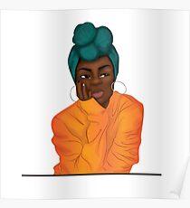 """Mmmphmmm"" Black Girl Thinking Poster"