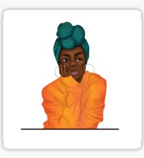 """Mmmphmmm"" Black Girl Thinking Sticker"