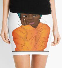 """Mmmphmmm"" Black Girl Thinking Mini Skirt"