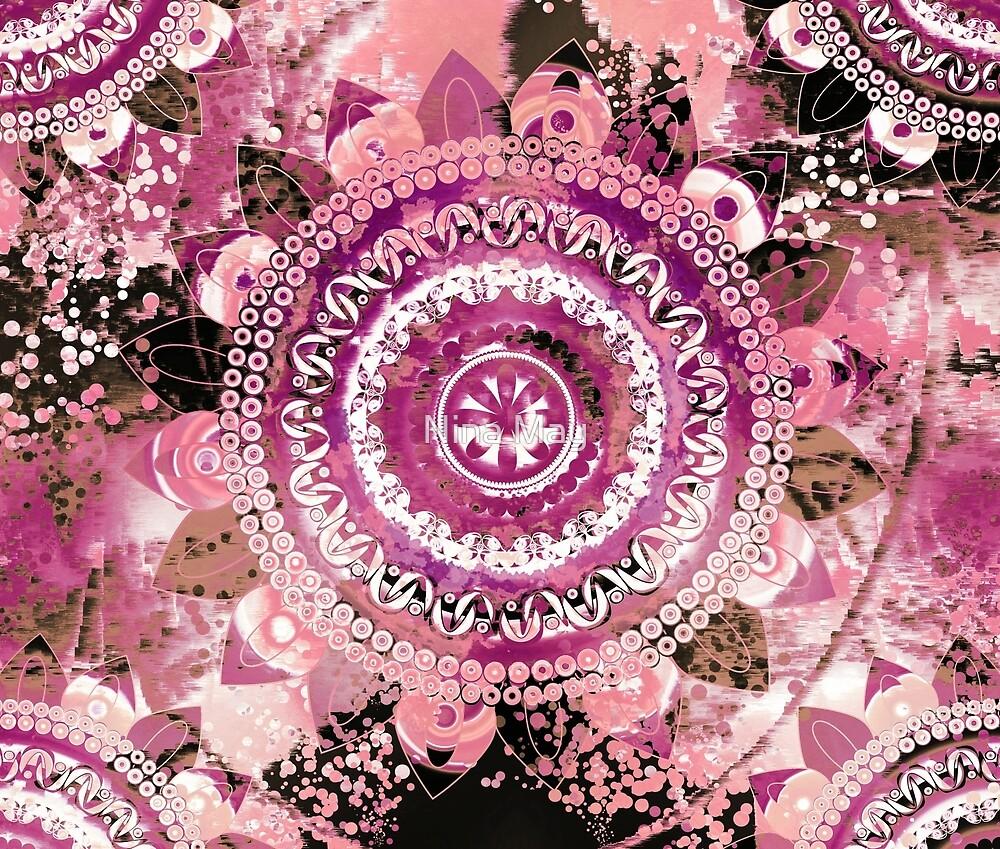 Rose Sea Mandala by Nina May