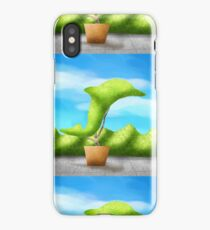 Topiary Dolphin  iPhone Case
