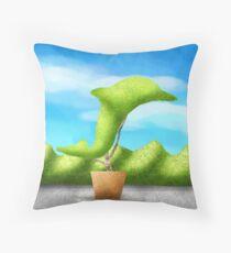 Topiary Dolphin  Throw Pillow