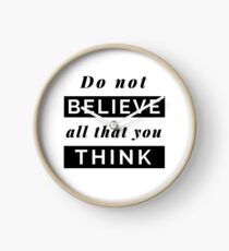 Design Day 63 - Do Not Believe All That You Think - March 4, 2018 Clock