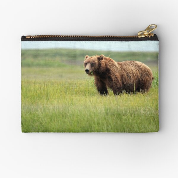 Walking With the Brown Bears in Hallo Bay Zipper Pouch