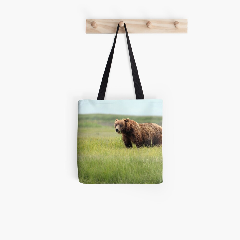 Walking With the Brown Bears in Hallo Bay Tote Bag