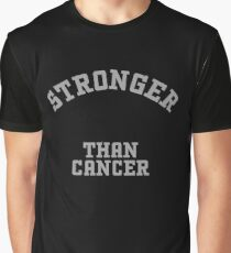 Stronger than Cancer-Gray Graphic T-Shirt