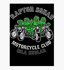 Raptor Squad Motorcycle Club Photographic Print