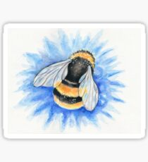 Bumble Bee Watercolor Art Sticker