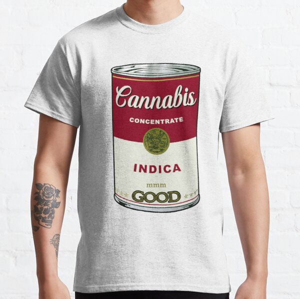 Cannabis Soup Can Indica Version Classic T-Shirt