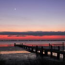 Conjunction at Dawn over Tuggerah Lake - Moon, Mercury, Jupiter and Mars by Mike Salway