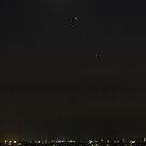 Moon, Mercury, Mars and Jupiter Conjunction by Mike Salway