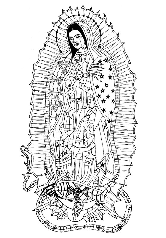 Quot Our Lady Of Guadalupe Quot By Edwin Rivera Redbubble