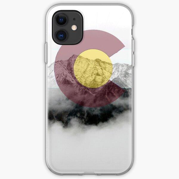 Colorado Flag Mountains Snow - Colorful Colorado iPhone Soft Case