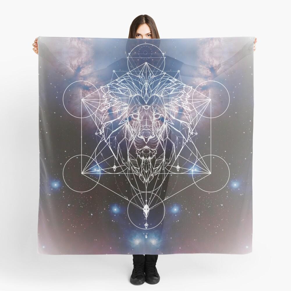 Metatrons Löwenherz, Geometrischer Löwe mit Fraktalnebel Tuch