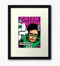 Post-Punk Super Friends - Green Framed Print