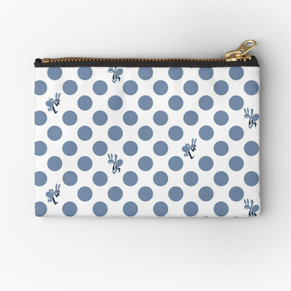 Polka Dot Ants (Blue) Zipper Pouch