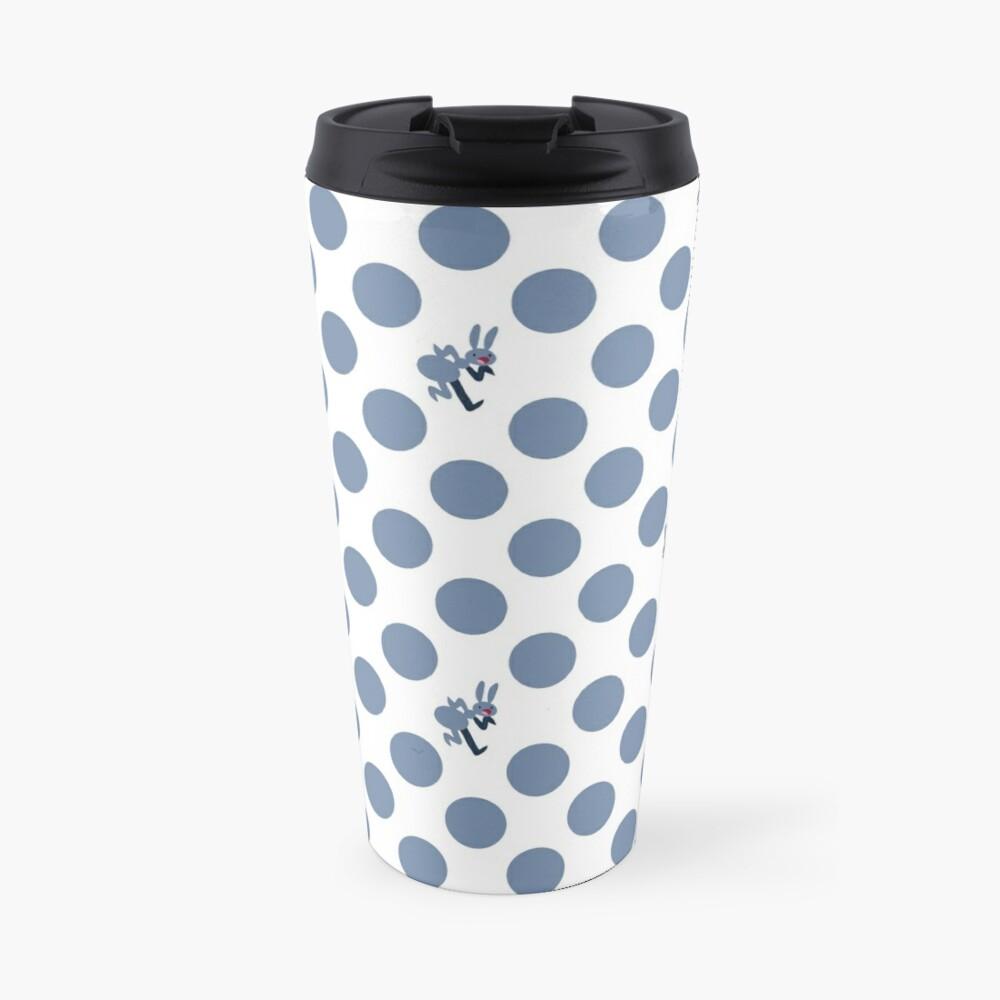 Polka Dot Ants (Blue) Travel Mug