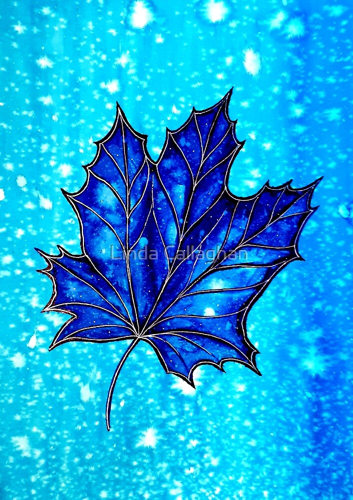 Autumn Blues - Leaves by Linda Callaghan