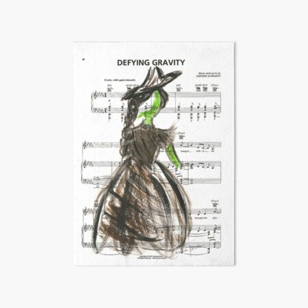 Elphaba - Defying Gravity Art Board Print
