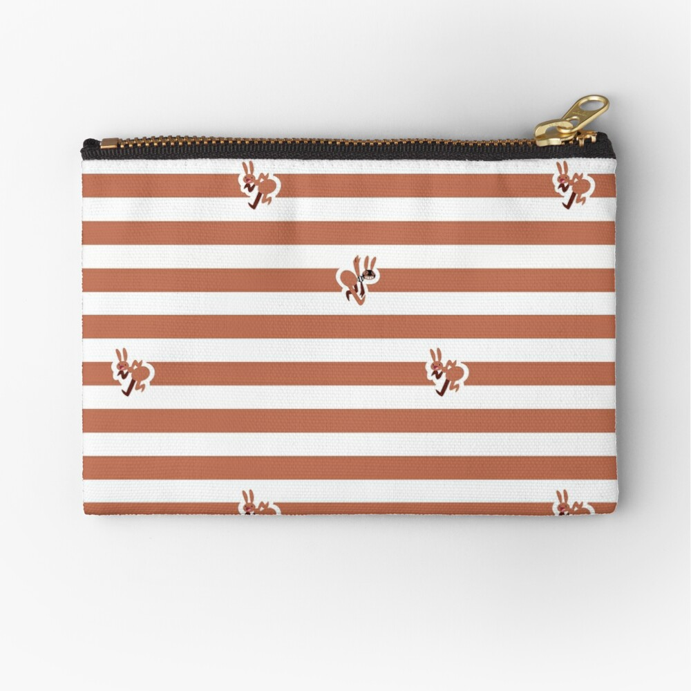 Ant Stripes (Red) Zipper Pouch