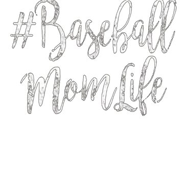 #Baseball Mom Life Gift Quote T-Shirts by vokieucsvc