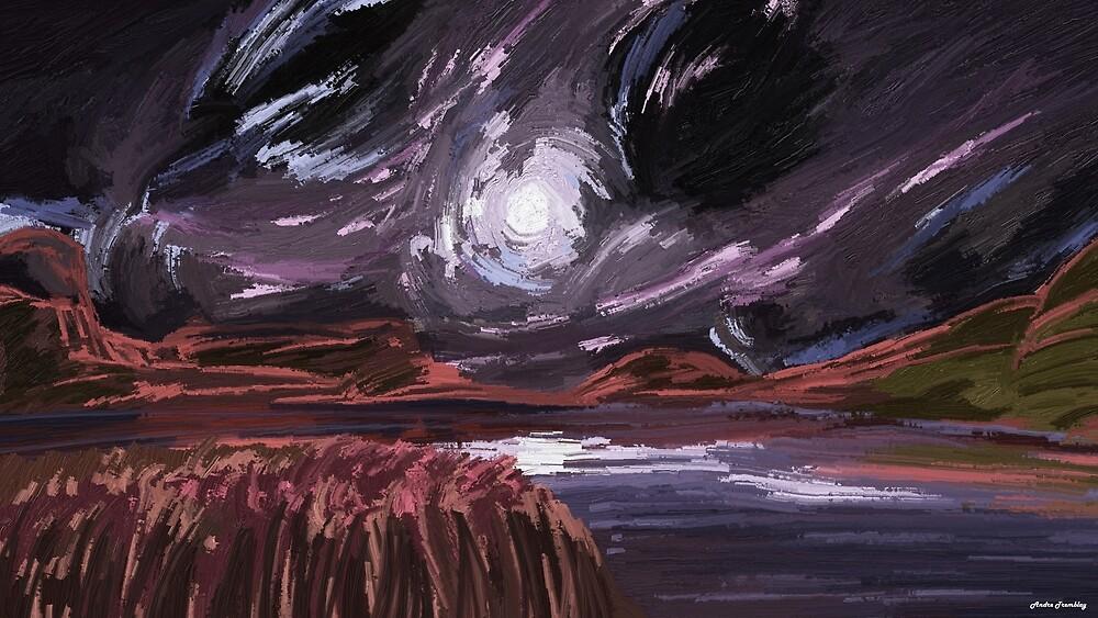 Night land by komaro