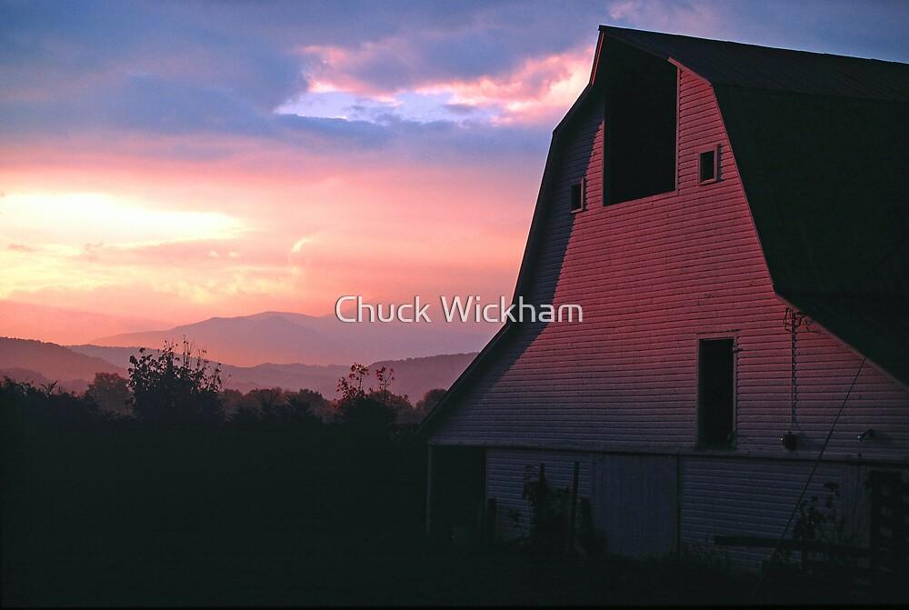 BARN,SUNRISE by Chuck Wickham