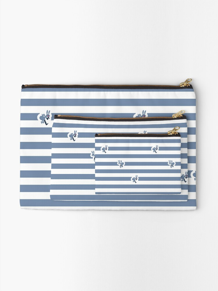 Alternate view of Ant Stripes (Blue) Zipper Pouch