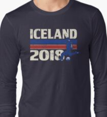 Iceland Soccer 2018 for World Cup in Russia Long Sleeve T-Shirt