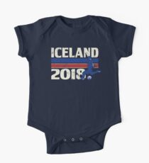Iceland Soccer 2018 for World Cup in Russia One Piece - Short Sleeve