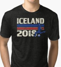 Iceland Soccer 2018 for World Cup in Russia Tri-blend T-Shirt