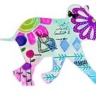 Sweet Colorful Baby Elephant  by MandalaArts