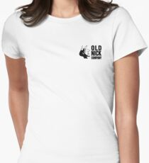 Old Nick Small Logo Black Women's Fitted T-Shirt