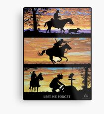 Australian Sunsets Lest we forget Metal Print