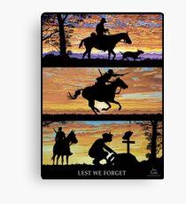 Australian Sunsets Lest we forget Canvas Print