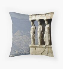 The Porch of the Caryatids of The Erechitheion Throw Pillow