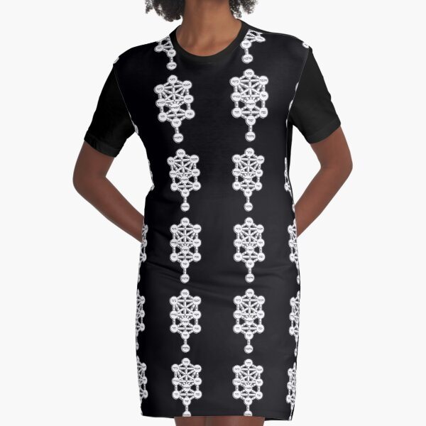 The Magical Kabbalah Tree of Life Graphic T-Shirt Dress
