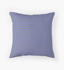 Blue and Grey Horizontal Stripe Floor Pillow