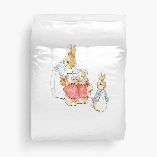 Peter Rabbit Adventures: Mother Says Goodbye and Sends Them Outside Duvet Cover