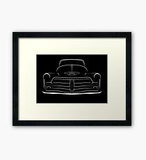 1954 3100 Pickup - white stencil, front Framed Print