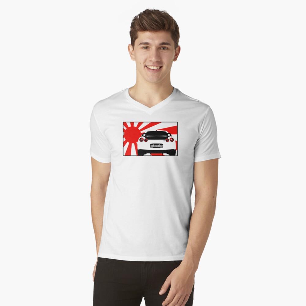 Shift Shirts R35SPECT – R35 Inspired Mens V-Neck T-Shirt Front