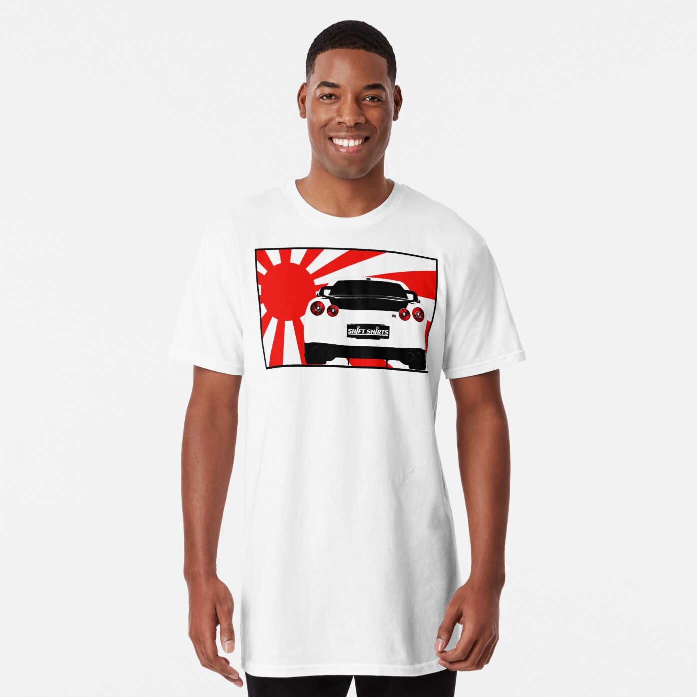 Shift Shirts R35SPECT – R35 Inspired Long T-Shirt Front