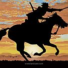 Australian Sunset Light horseman by iancoate